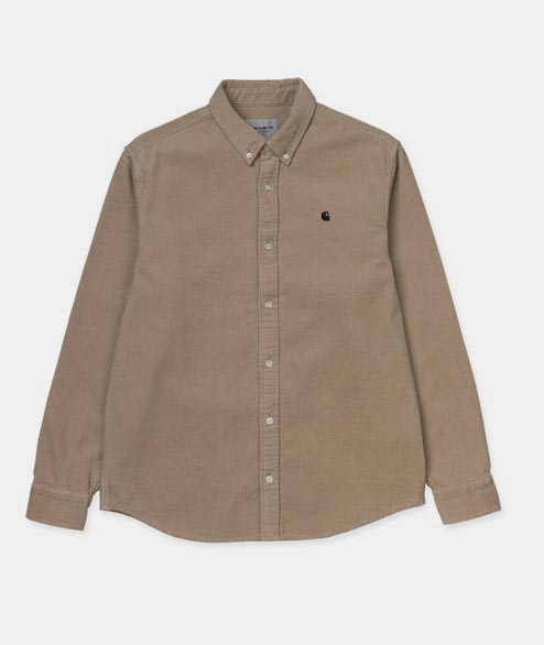 Carhartt WIP - Madison Cord Shirt - Wall Black