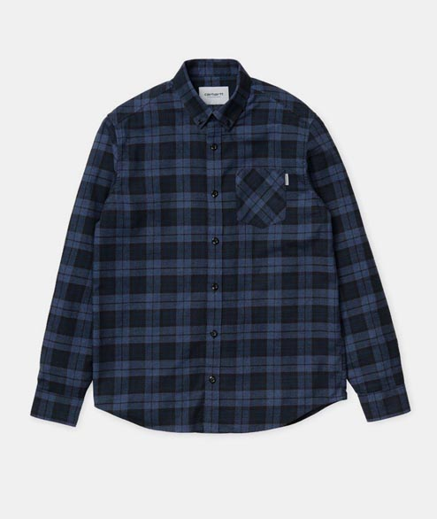 Carhartt WIP - Norton Shirt LS - Blue Parsley