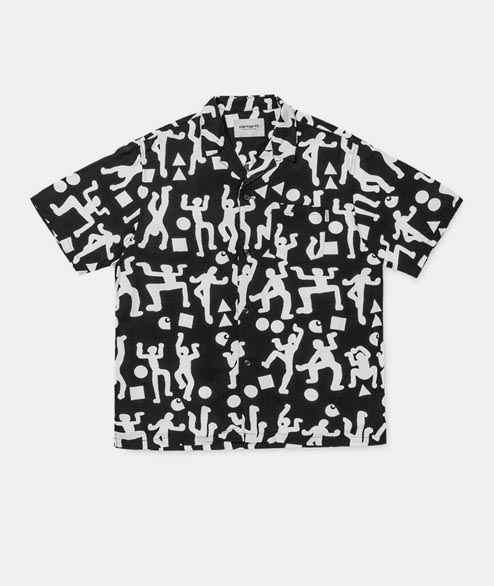 Carhartt WIP - World Party Shirt - Black White Print