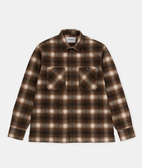 Carhartt WIP - Halleck Shirt LS - Check Tobacco