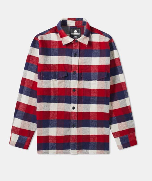Edwin - Big Shirt - Bordeaux Navy