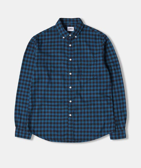 Edwin - Standard Shirt - Petrol Garment Washed