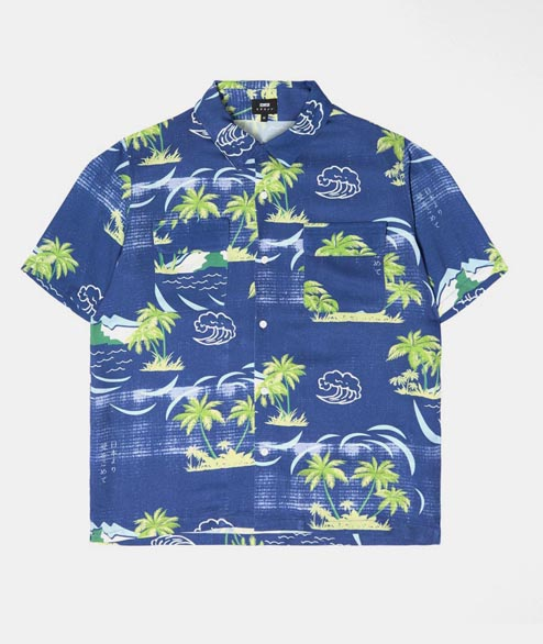 Edwin - Garage Shirt - Blue Island