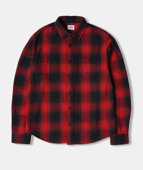Edwin - Labour Shirt - Red Garment Washed