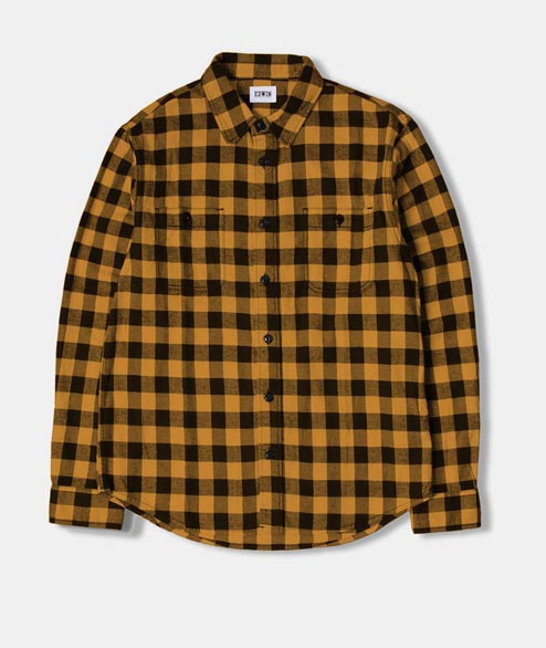 Edwin - Labour Shirt - Yellow Garment Washed