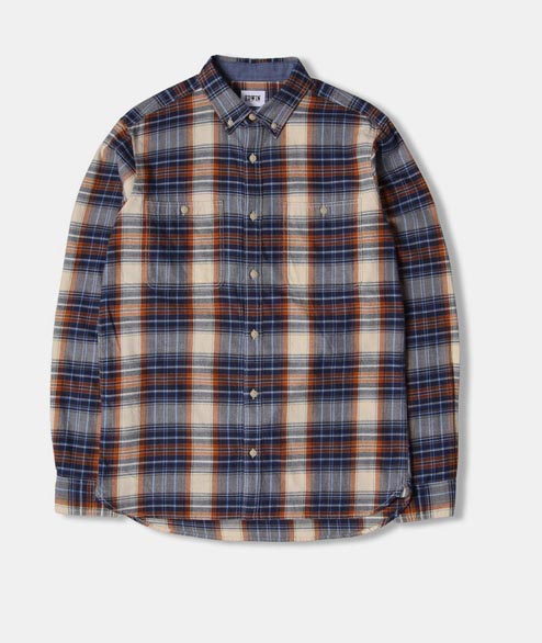 Edwin - Tripple 10 Check Shirt - Rust Garment