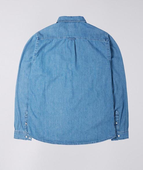Edwin - Better Shirt LS - Blue Light Stone Wash