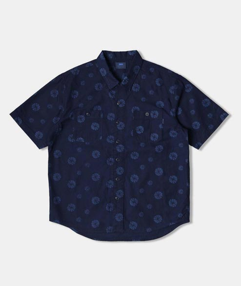 Edwin - Cell Shirt - Cotton Indigo