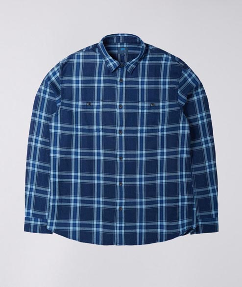 Edwin - Labour Shirt - Indigo Check