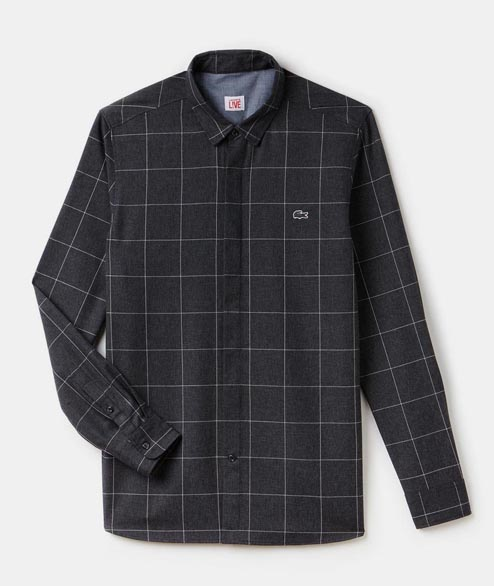 Lacoste Live - Check Shirt - Grey