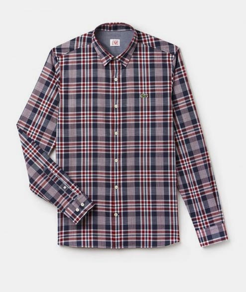 Lacoste Live - Slim Fit Shirt - Red Plaid
