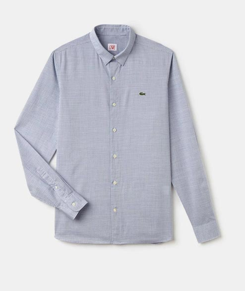 Lacoste Live - Slim Fit Shirt - Blue Squares