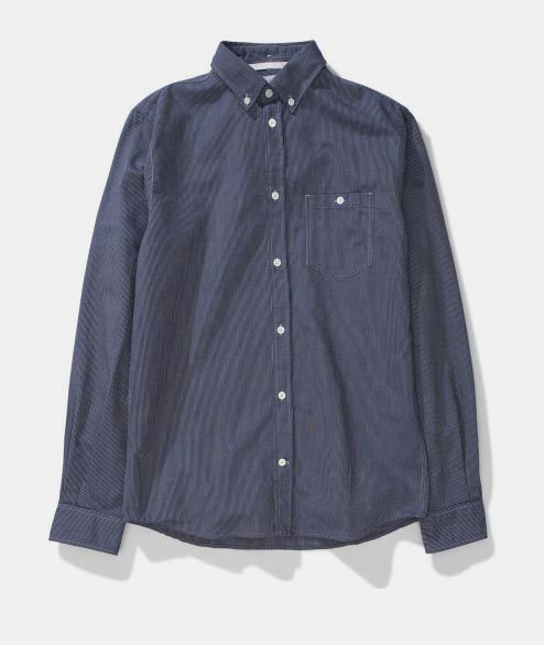 Norse Projects - Anton Oxford - Moss Linchen Stripe