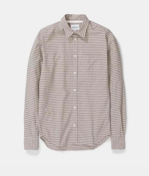Norse Projects - Osvald Micro Check - Ecru