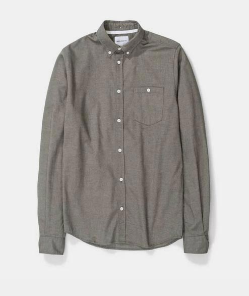 Norse Projects - Anton Brushed Flannel - Sitka Green