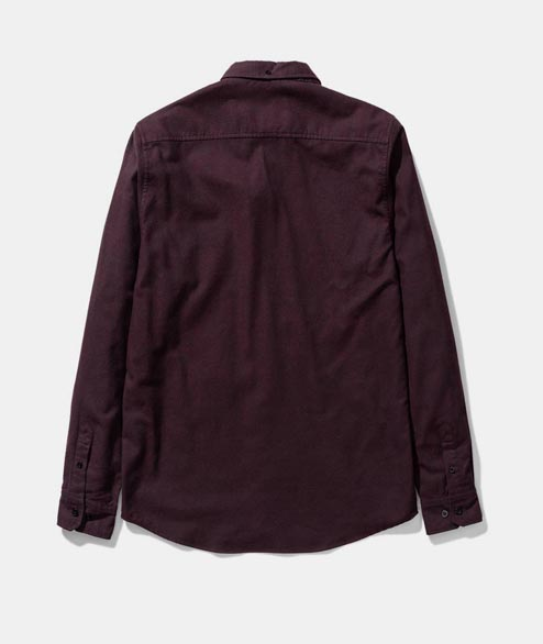 Norse Projects - Anton Brushed Flannel - Eggplant Brown