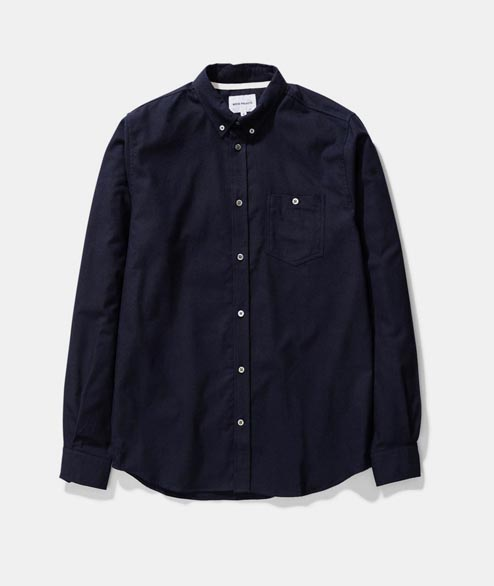 Norse Projects - Anton Brushed Flannel - Dark Navy