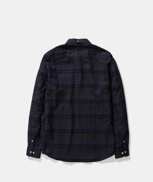 Norse Projects - Anton Brushed Flannel Check - Navy