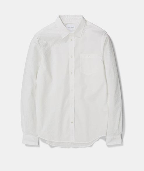 Norse Projects - Osvald Seersucker - White