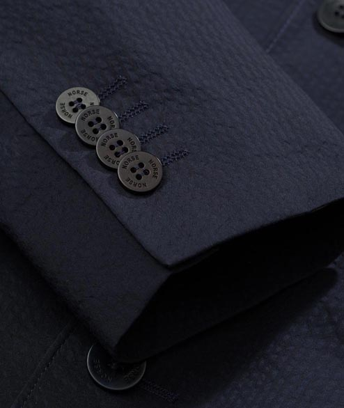 Norse Projects - Theo Seersucker - Dark Navy