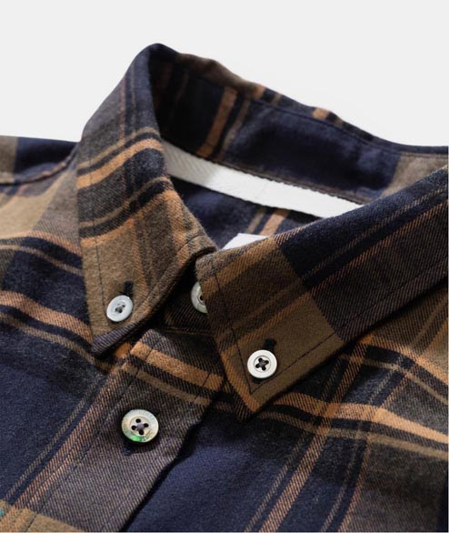 Norse Projects - Anton Brushed Flannel Check - Ivy Green
