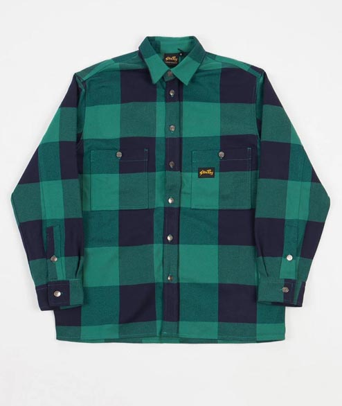 Stan Ray - Flannel Shirt - Indian Green Check
