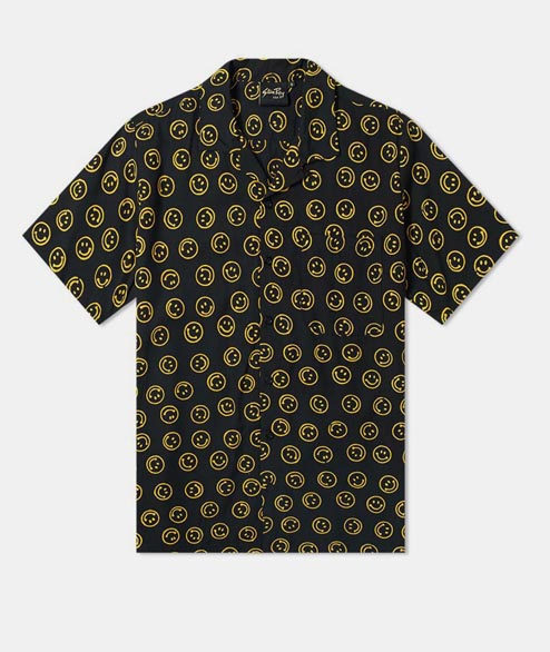 Stan Ray - Smiley Batik SS Shirt - Black
