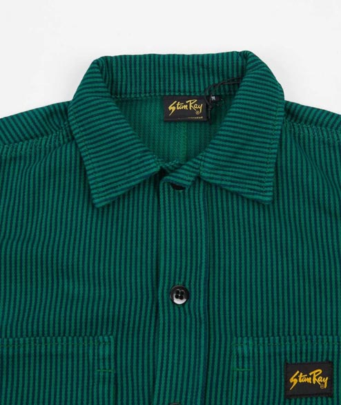 Stan Ray - Prision Shirt - Indian Green Stripe