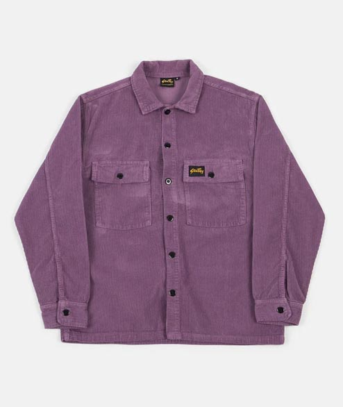 Stan Ray - Cord CPO Shirt - Crushed Purple