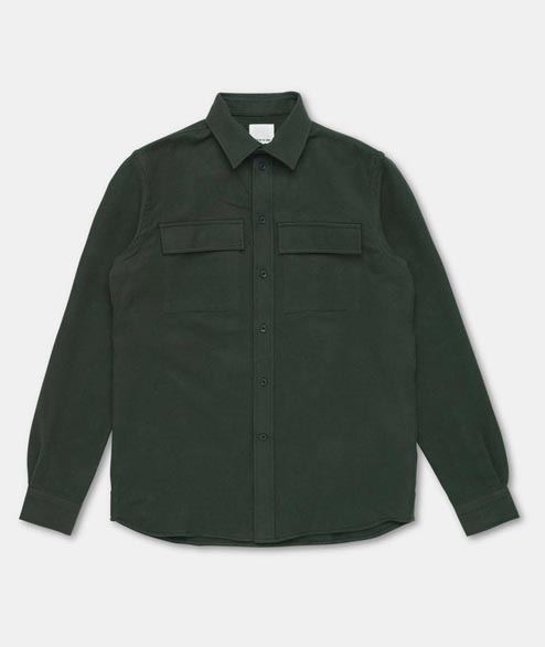 Wood Wood - Barking Shirt - Dark Green