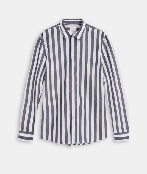 Wood Wood - Dessy Shirt - Navy Stripes