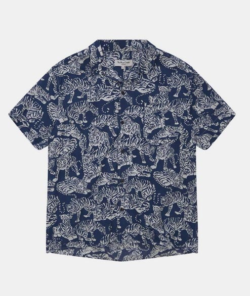 YMC - Tiger Malick Shirt - Blue