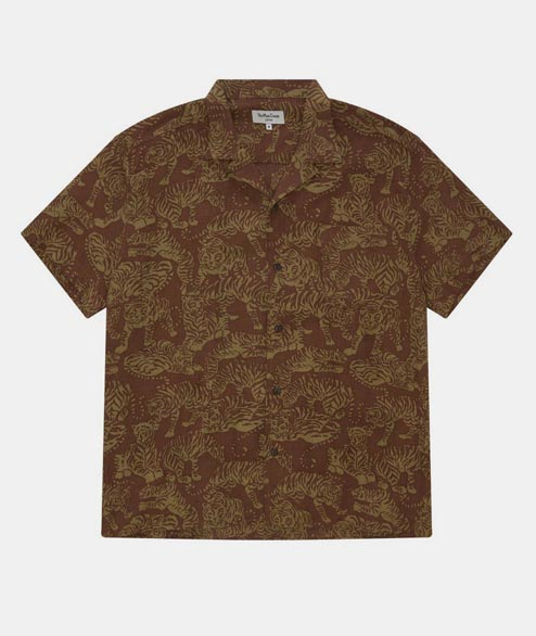 YMC - Tiger Malick Shirt - Brown
