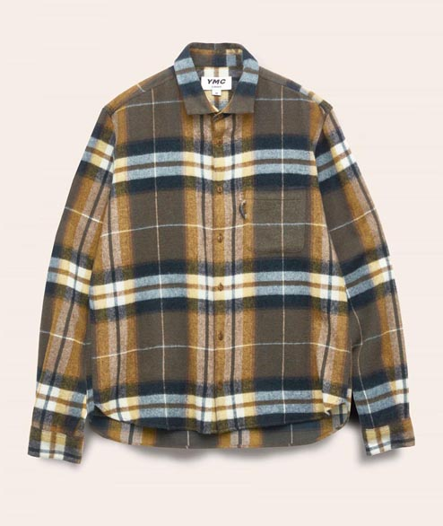 YMC - Curtis Check Shirt - Olive