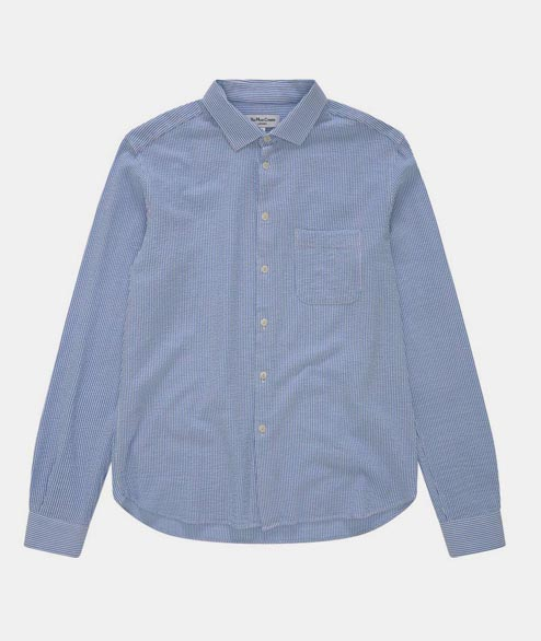YMC - Curtis Shirt - Blue Stripe