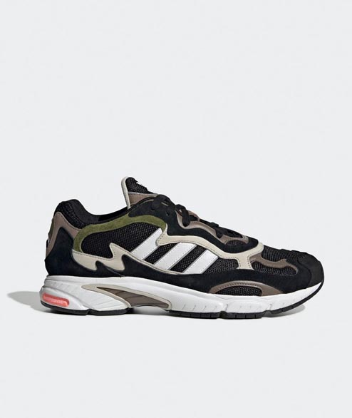 Adidas originals - Temper Run - Black White Cargo Green