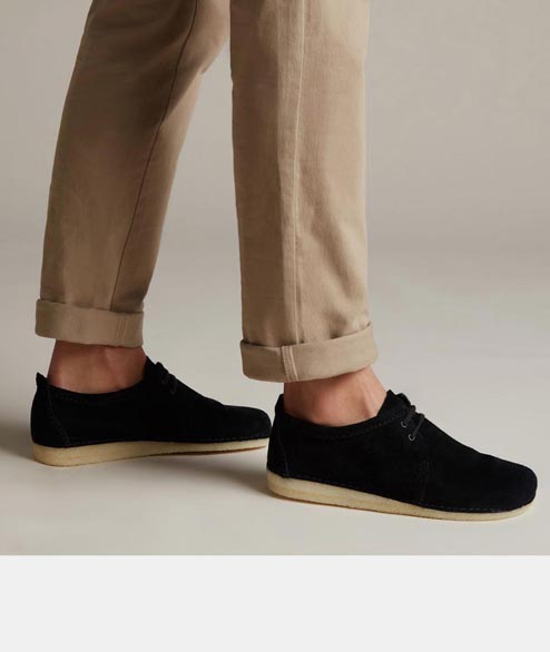 Clarks Originals - Ashton - Black Suede