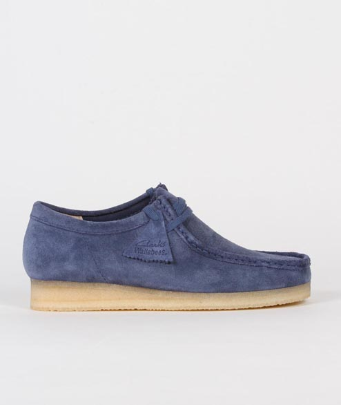 Clarks Originals - Wallabee - Night Blue Suede