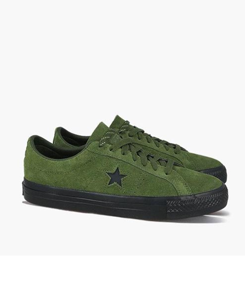 Cons - One Star Pro OX - Hunter Green Black