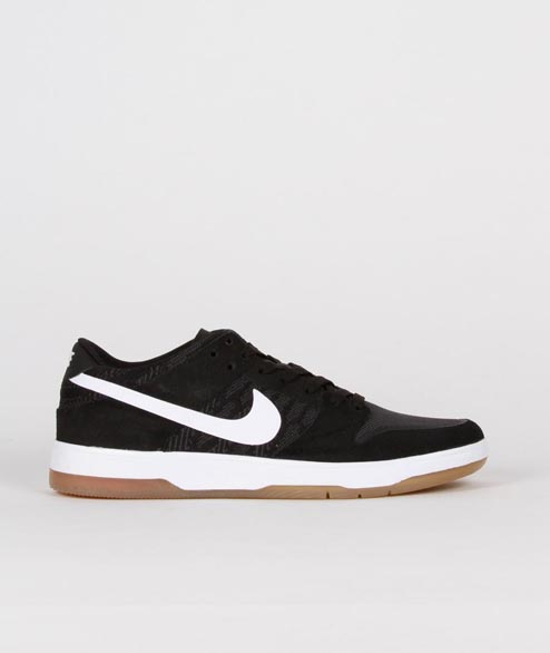 Nike SB - Dunk Low Elite - Black White Gum