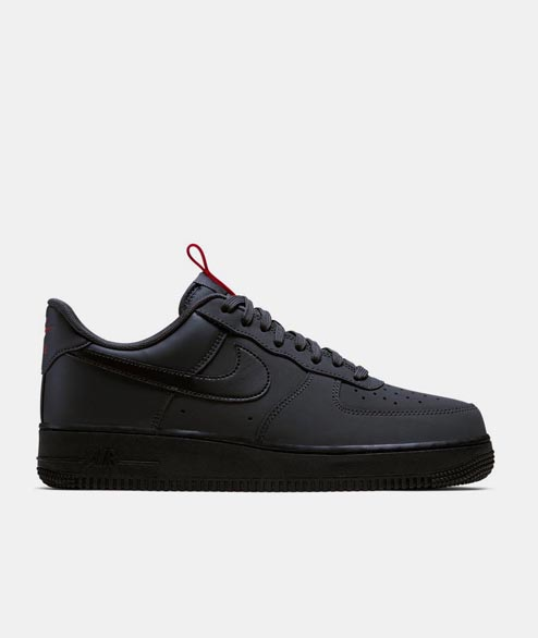 Nike Sportswear - Air Force 1 07 - Anthracite Black Red