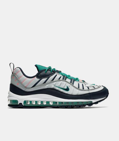 Nike Sportswear - Air Max 98 - Pure Platinum Obsidian Kinetic Green