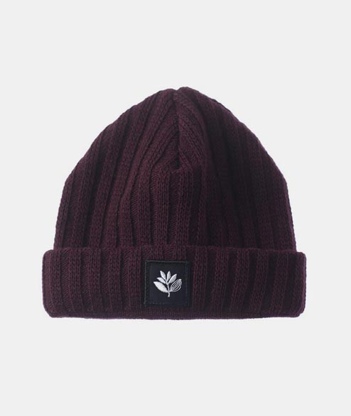 Magenta - Plant Patch Beanie - Burgundy