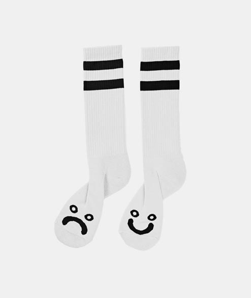 Polar Skate Co. - Happy Sad Sock - White