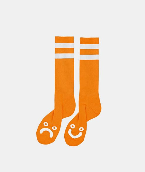 Polar Skate Co. - Happy Sad Sock - Orange