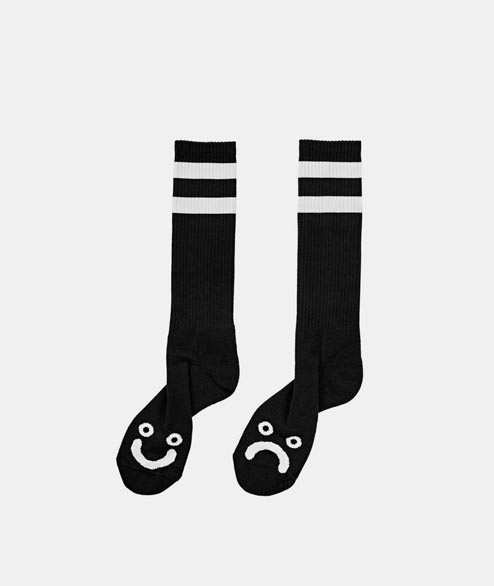 Polar Skate Co. - Happy Sad Sock - Black