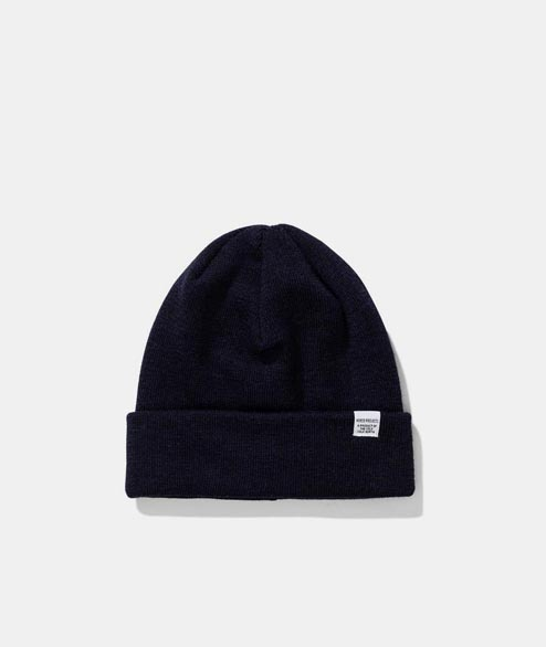 Norse Projects - Norse Top Beanie - Dark Navy
