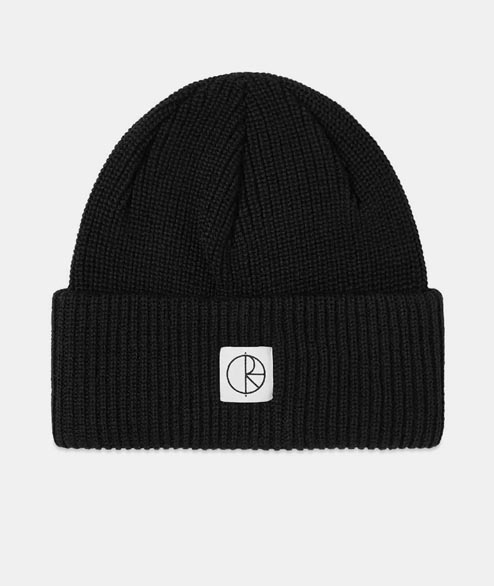 Polar Skate Co. - Double Fold Merino Beanie - Black