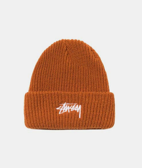 Stussy - Stock Cuff Beanie - Burnt Orange