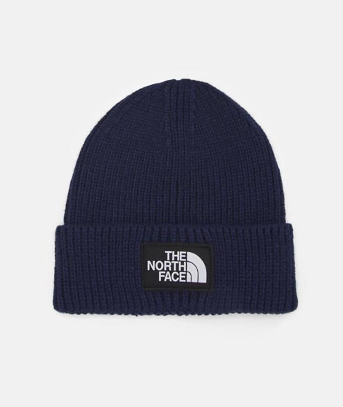 The North Face - Box Logo Cuff Beanie - Navy
